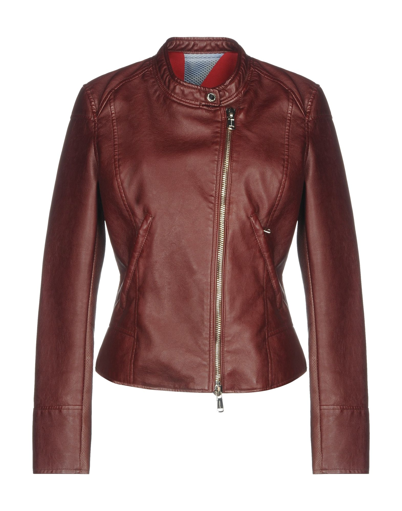 FREEDOMDAY Куртка двуцетная кожаная куртка косуха на молнии