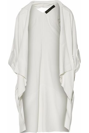 ROLAND MOURET Paneled cutout cotton-blend jacket