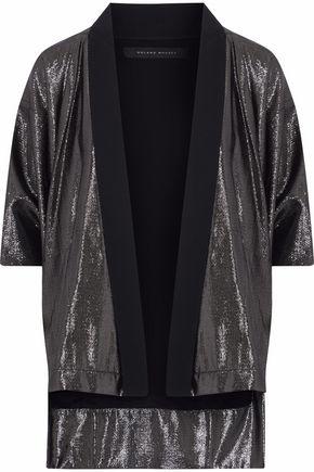 ROLAND MOURET Cutout cloqué lamé jacket