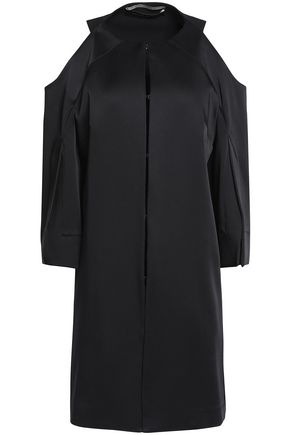 ROLAND MOURET Cold-shoulder crepe-satin jacket