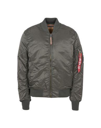 Купить Мужскую куртку ALPHA INDUSTRIES INC. свинцово-серого цвета