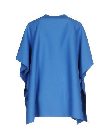 Фото 2 - Женское пальто или плащ  синего цвета