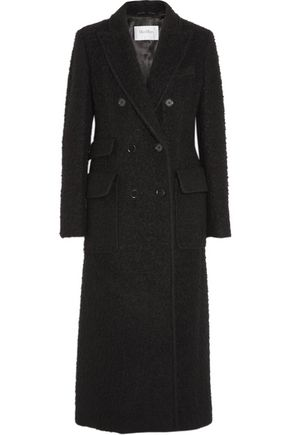 Textured alpaca and wool-blend coat