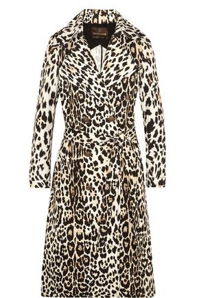 WOMAN LEOPARD-PRINT COTTON-TWILL TRENCH COAT ANIMAL PRINT