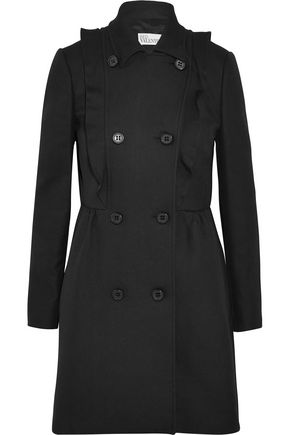 REDValentino Ruffled cotton-twill coat