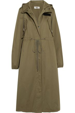 MM6 MAISON MARGIELA Hooded cotton-gabardine trench coat