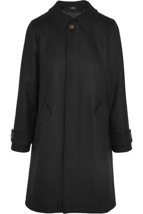 A.P.C. Dinard wool-blend felt trench coat