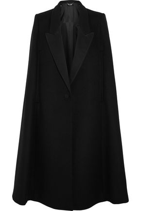 STELLA McCARTNEY Twill-trimmed wool-blend cape