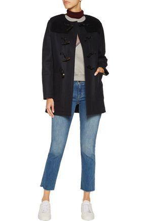 MAISON KITSUNÉ Bouclé-paneled wool duffle coat