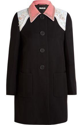 MIU MIU Embellished cady coat
