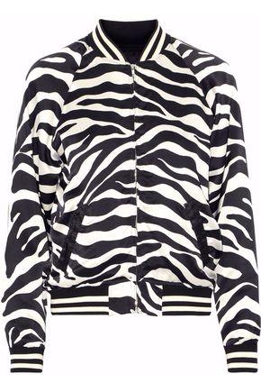 R13 Zebra-print silk bomber jacket