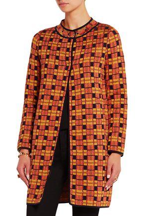 M MISSONI Metallic crochet-knit coat