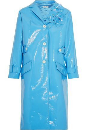MIU MIU Appliquéd faux patent-leather coat