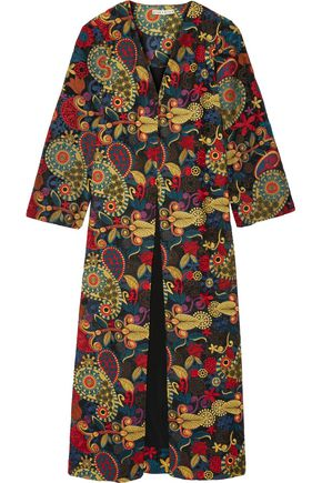 ALICE + OLIVIA Stara embroidered organza coat