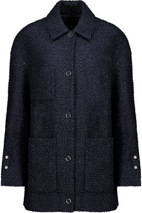 MOTHER OF PEARL Bryant embellished cotton-blend bouclé-tweed coat