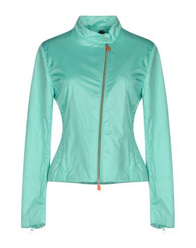 Фото - Женскую куртку SAVE THE DUCK бирюзового цвета