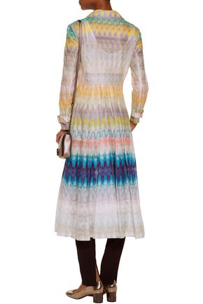MISSONI Crochet-knit coat