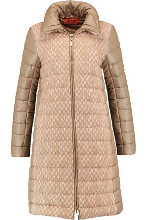 MISSONI Crochet knit-paneled quilted shell jacket