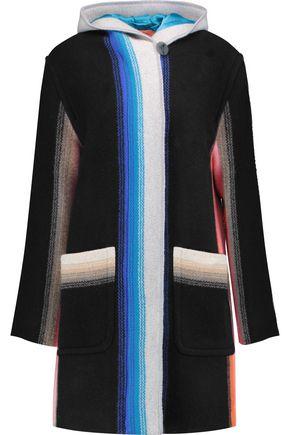 MISSONI Printed wool hooded coat