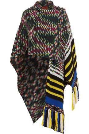 MISSONI Hooded fringed cashmere-blend cape