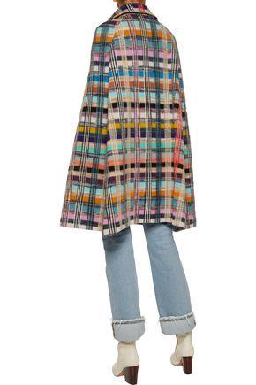 ... MISSONI Checked wool-blend bouclé cape