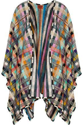 MISSONI Crochet-knit wool-blend cape