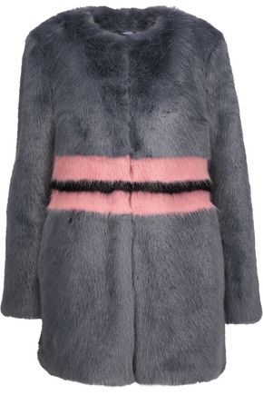 SHRIMPS Agnes color-block faux fur coat