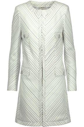 PIERRE BALMAIN Metallic metalassé coat