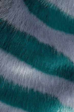 SHRIMPS Jean striped faux fur coat