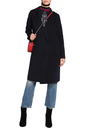 SANDRO Convertible wool-blend and shell coat