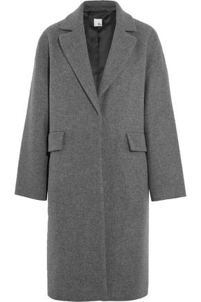IRIS & INK Edie brushed wool-blend coat