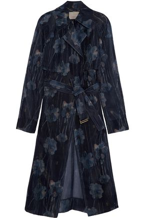 JASON WU Printed mesh trench coat