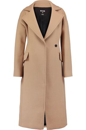 MSGM Cotton-moire coat