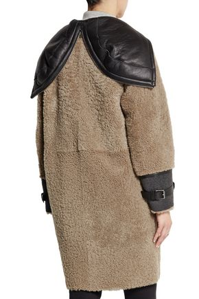 BELSTAFF Ava leather-paneled shearling coat