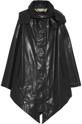 BELSTAFF Cora hooded rubberized cotton cape