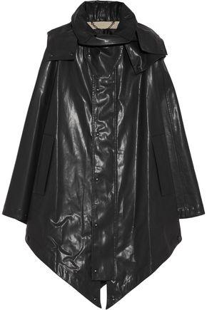 BELSTAFF Cora hooded rubberized cotton cape
