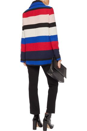 LOVE MOSCHINO Striped woven coat