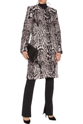 ROBERTO CAVALLI Printed wool-blend felt coat
