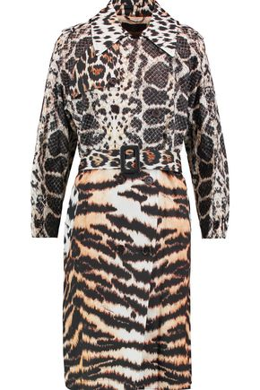 ROBERTO CAVALLI Printed cotton-twill coat