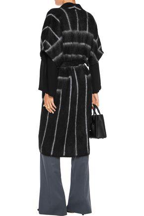 VIONNET Belted mohair-blend coat