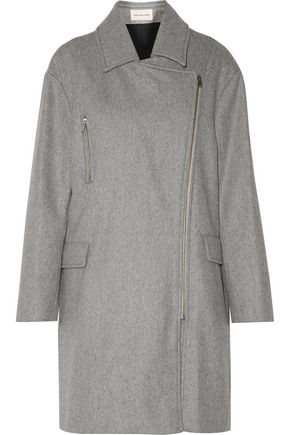 WOMAN ELSA WOOL-BLEND FELT COAT GRAY