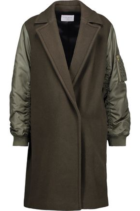 SANDRO Lazarus shell-paneled wool-blend felt coat