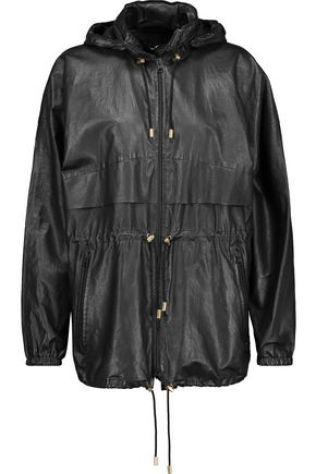ISABEL MARANT Branden leather hooded coat