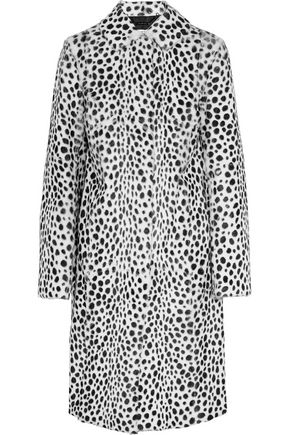 GIVENCHY Printed goat hair coat