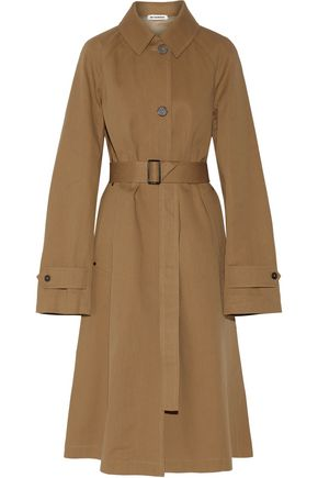 JIL SANDER Cotton-twill trench coat