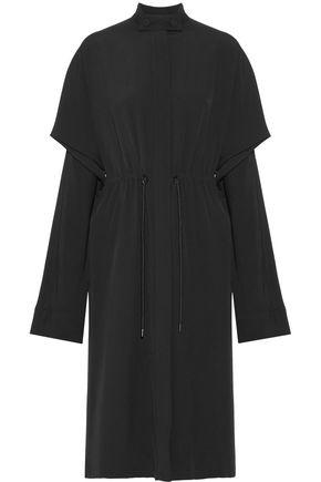 JIL SANDER Drawstring crepe coat