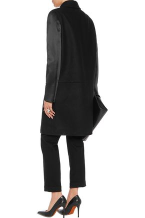 GIVENCHY Satin-paneled wool coat