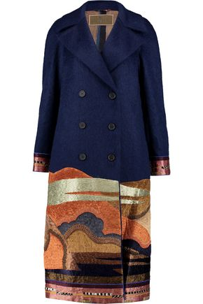 ETRO Mohair-blend and metallic jacquard coat