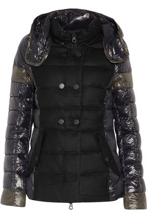 DUVETICA Calinitide paneled twill and quilted shell down hooded coat