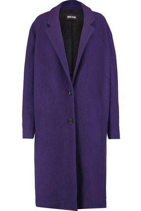 JUST CAVALLI Brushed-wool coat